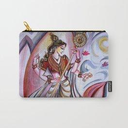 Musical Goddess Saraswati - Healing Art Carry-All Pouch