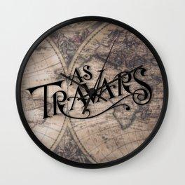 As Travars - To travel (map) Wall Clock