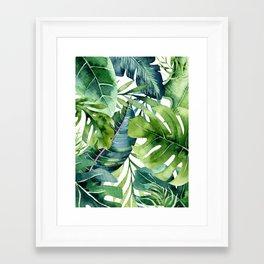 Tropical Jungle Leaves Framed Art Print
