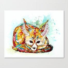 """""""You're So Foxy"""" - Fennec Fox Canvas Print"""