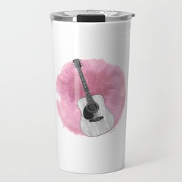 Pink Guitar Travel Mug