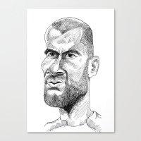 zidane Canvas Prints featuring Zidane by Garabatostudios