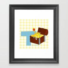 t for treasure Framed Art Print