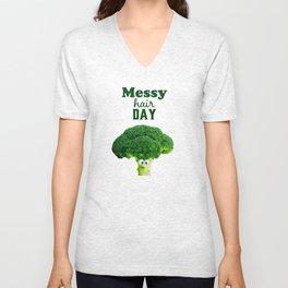 Messy hair day Unisex V-Neck