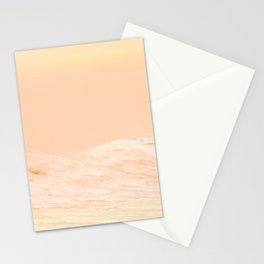 Ocean Waves Peach Stationery Cards
