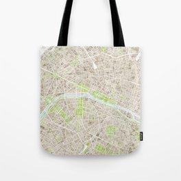 Paris SGB Watercolor Map Tote Bag