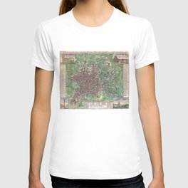 Vintage Map of Rome Italy (1721) T-shirt