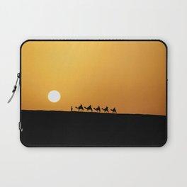 Caravan in the desert during sunset Laptop Sleeve