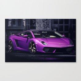 Purple Gallardo Canvas Print