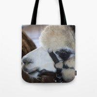 alpaca Tote Bags featuring Alpaca by Deborah Janke