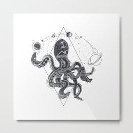 Geometric Octopos Metal Print
