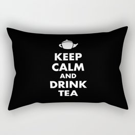 Keep Calm and Drink Tea Rectangular Pillow