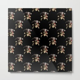 The Jolly Roger Pirate Skull Pattern Metal Print