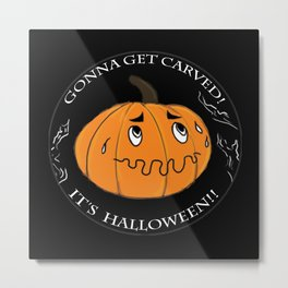 The scared Pumpkin! Halloween Metal Print