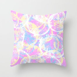 Abstract Jellyfish Visual Decorative Graphic Design V.10 Throw Pillow