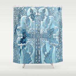 Celtic Blue - JUSTART © Shower Curtain