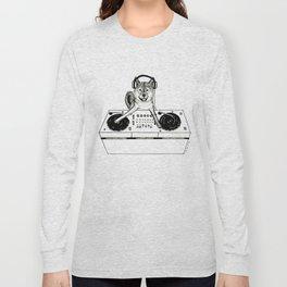 Shiba Inu Dog DJ-ing Long Sleeve T-shirt