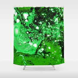 Green in Abstract Shower Curtain