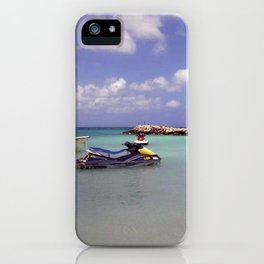 Jetskiing in the Caribbean iPhone Case