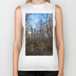 Sunrise in the woods Biker Tank