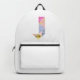 Collaged Tangram Alphabet - J Backpack