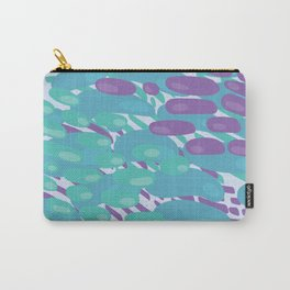 Blue Green Purple Orbs Carry-All Pouch