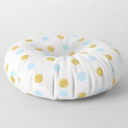 Dalmatian - Blue & Gold Foil #447 Floor Pillow