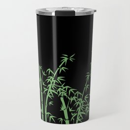 Bamboo design green - black Travel Mug