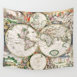 1904 World Map Wall Tapestry