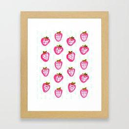 strawberry rain Framed Art Print