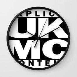 UK MC Explicit Content Wall Clock