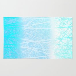 Frosted Winter Branches in Misty Blue Rug