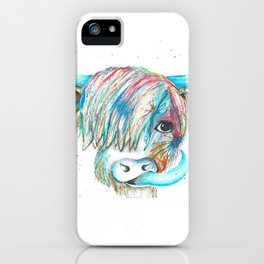 Highland Cattle full of colour iPhone Case