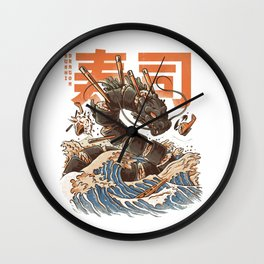 Great Sushi Dragon Wall Clock