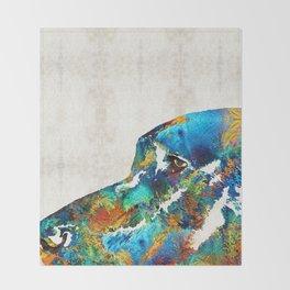 Colorful Dog Art - Loving Eyes - By Sharon Cummings Throw Blanket