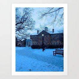 Carolina Snow Art Print