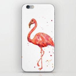 Flamingo, Pink Flamingo, Tropical, bird art, Florida iPhone Skin