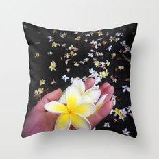 Frangipani Explosion! Throw Pillow
