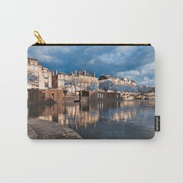 Nantes Riverside Scenery - Winter Blue Fantasy Carry-All Pouch