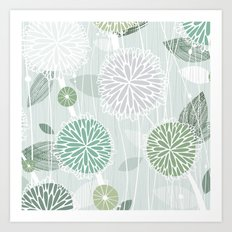 Abstract Floral by Friztin Art Print