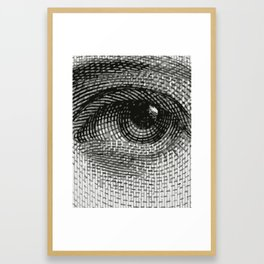Eye engraving Framed Art Print