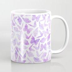 Purple Watercolor Butterflies Pattern Mug