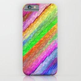 Colorful digital art splashing G479 iPhone Case