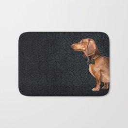 Elegant dachshund. Bath Mat