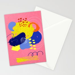 Bright pink abstrat Stationery Cards