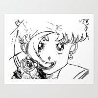 sailormoon Art Prints featuring Sailor Pop by Karen McLendon