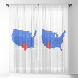 The State of Texas Position Sheer Curtain