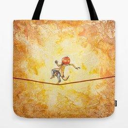Pumpkin Tightrope Walker Tote Bag