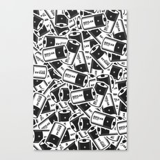 Bipolar Bitch Pattern Canvas Print