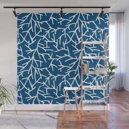 Branches - Blue Wall Mural